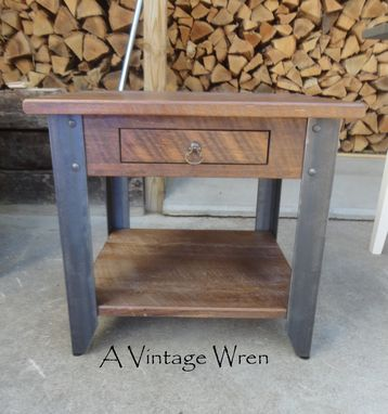 Custom Made Industrial Side Table/ Accent Table/ Modern Furniture/ Urban Indstrial