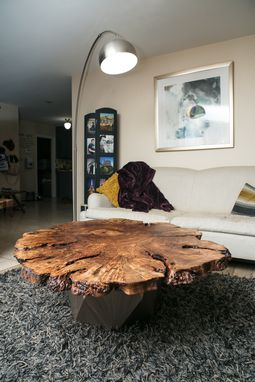 "Custom Made 51x44"" Peruvian Pepper Burl Rustic Modern Coffee Table"