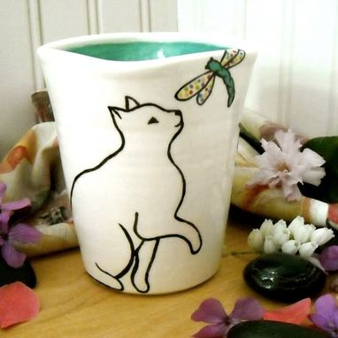 Custom Made Custom Personalized Cat Cup With Lid