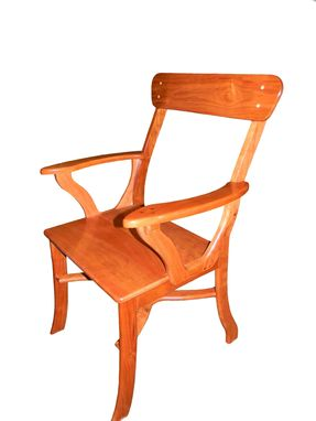 Custom Made Brazilian Cherry Arm Chair