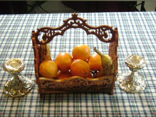 Custom Made Fretwork Basket
