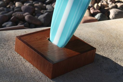 Custom Made Turquoise Glass Surfbaord With Turtle Design