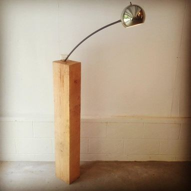 Custom Made Wood Block Lamp