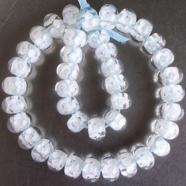Custom Made Bridal Blossom Beads Flame Worked Glass