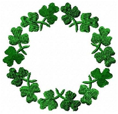 Custom Made Shamrock Wreath Embroidery Design