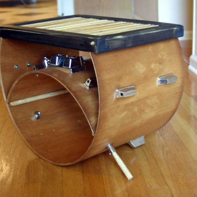 drum furniture table hand crafted upcycled drum stick furniture by tim sway perspectives custommadecom