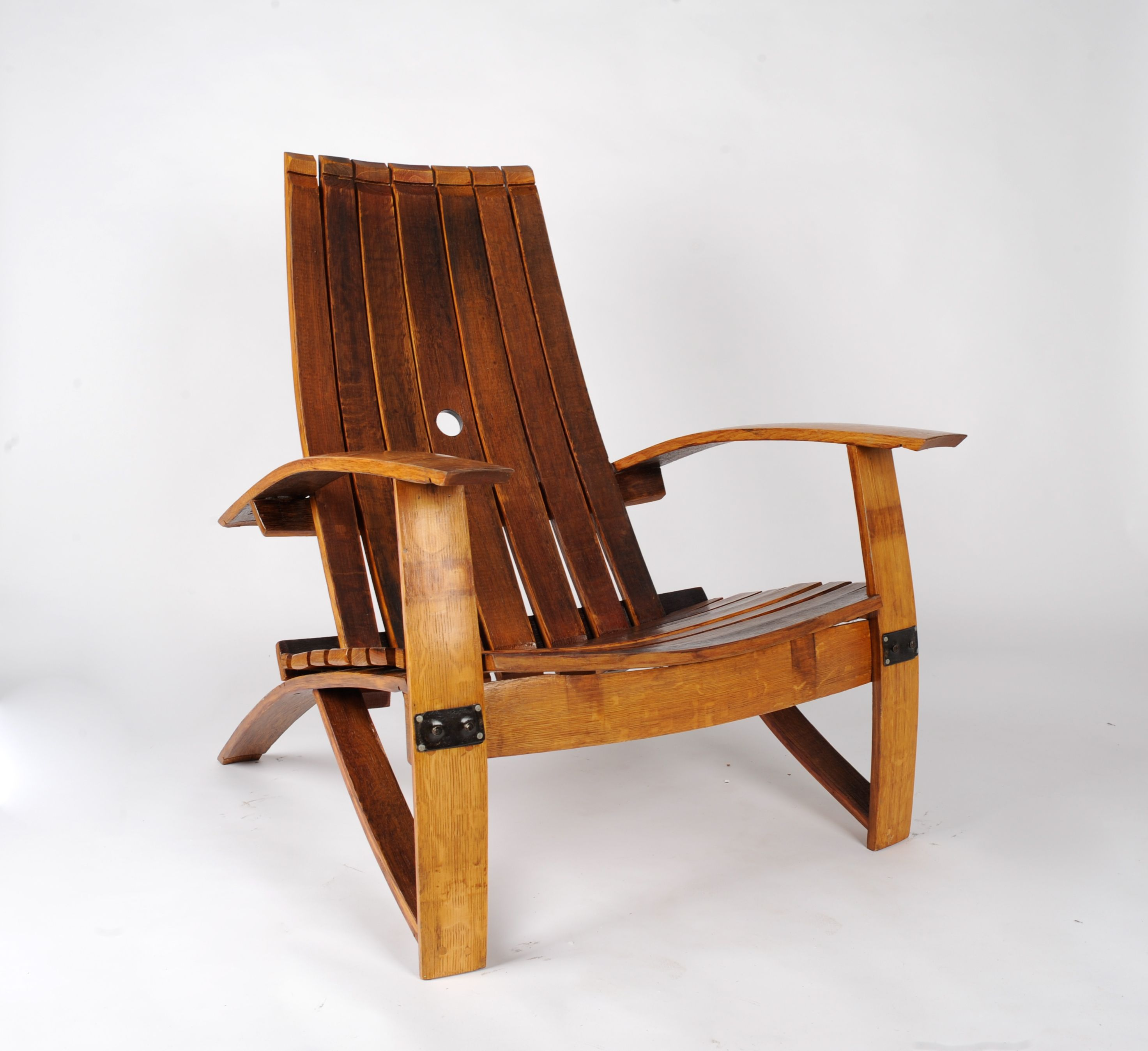 Buy A Hand Made White Wine Barrel Chair Made To Order From Wood And