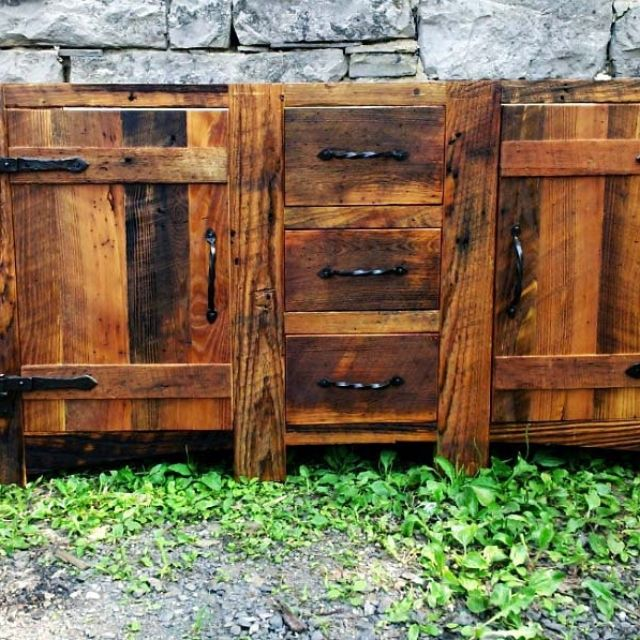 Bathroom Vanities Rustic buy a hand made rustic bathroom vanity from reclaimed wormy