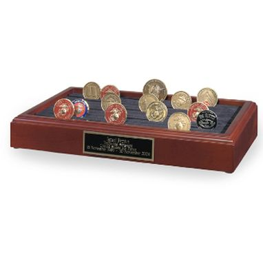 Custom Made Antique Coin Display Holder, Coin Stand Rack