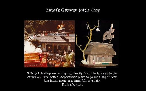 Custom Made Birdhouse & Feeder - Zirbel's Gateway Bottle Shop Truckee