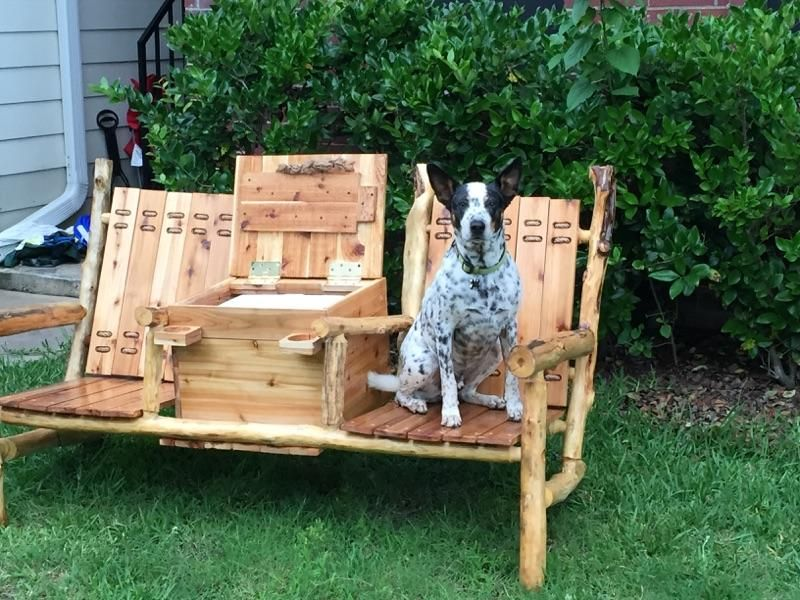 Buy A Hand Made Outdoor Bench W Built In Cooler Console Made To
