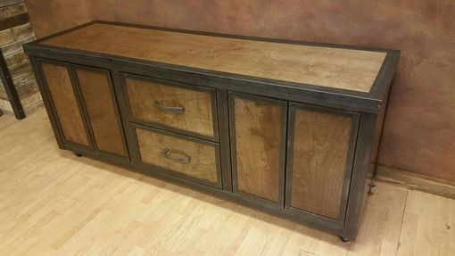 "Custom Made Industrial Media Console ""The Contemporary"" #054 • By Industrial Evolution Furniture Co."