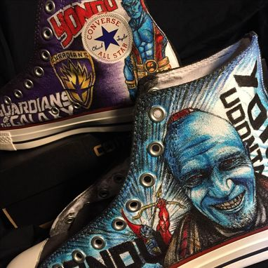 Custom Made Guardians Of The Galaxy Hand Drawn Yondu Converse
