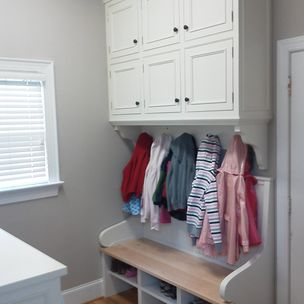 Built In Laundry Room Cabinets And Bench By