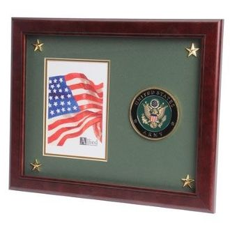 Custom Made U.S. Army Medallion Picture Frame With Stars