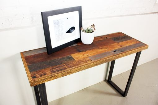 Custom Made Patchwork Reclaimed Timber Console Table
