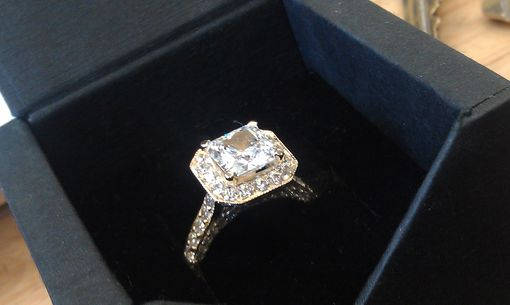 Custom Made High Quality Cubic Zirconia  Engagement Ring.