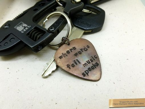 Custom Made Guitar Pick Keychains