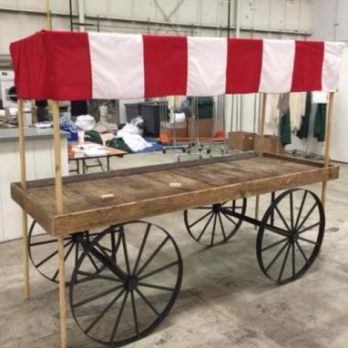 Custom Made Venetian Market Cart With Awning