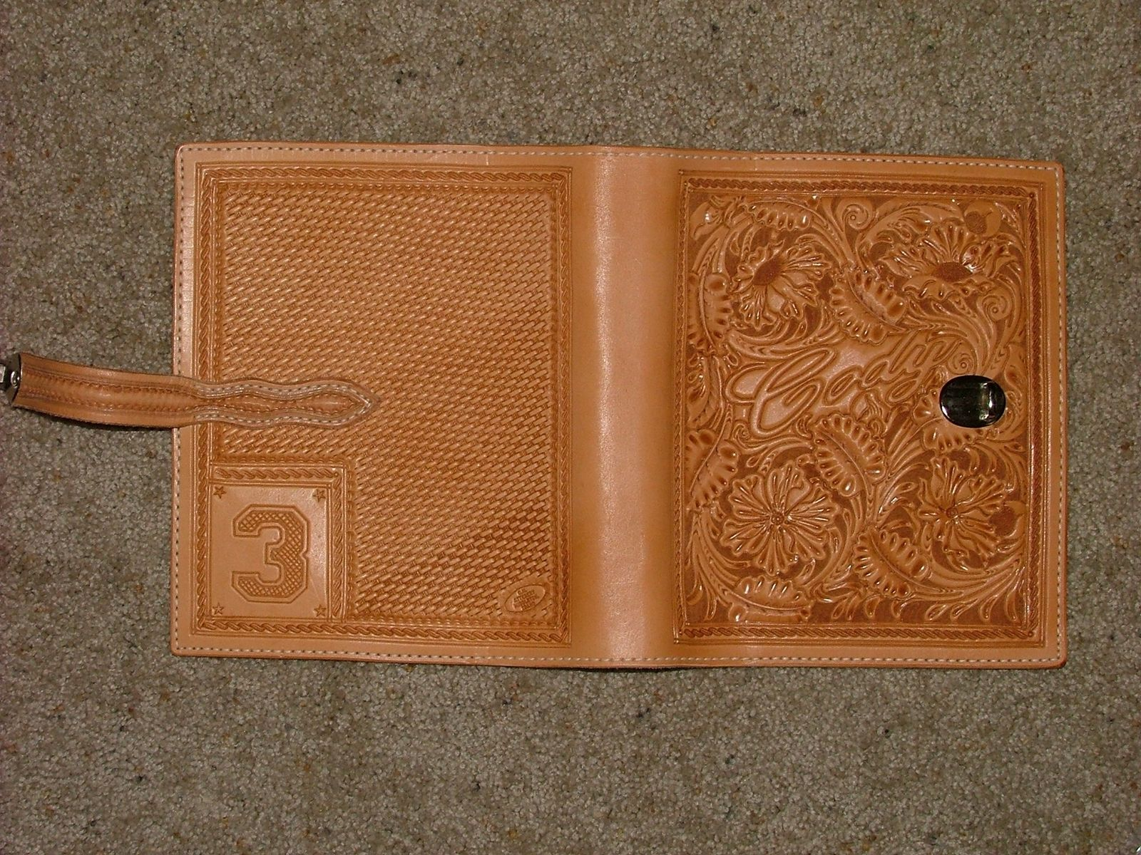 Custom Carved Leather Day Planner By Deanas Designs CustomMadecom - Custom daily planner