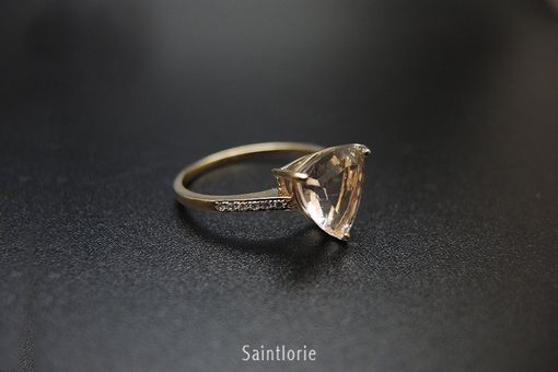 Custom Made 3 Carat Morganite Engagement Ring