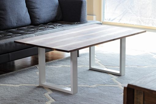 Custom Made Salem Coffee Table In Hardwood And Steel