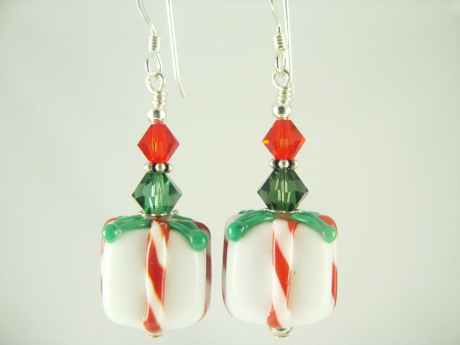 Hand Made Candy Cane And Christmas Themed Earrings By Jadjus Jewelry   Custommade