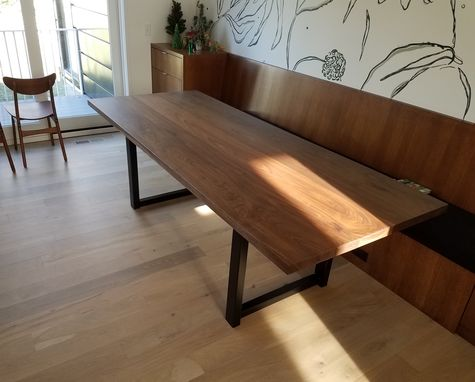 Custom Made Modern Walnut Dining Table