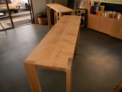 Hand Crafted Michael S Counter Height Narrow Soft Maple