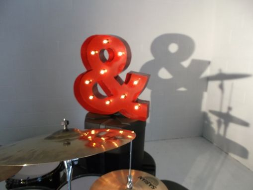 Custom Made Ampersand Metal Light Fixture 24 Inch Tall Steel Custom