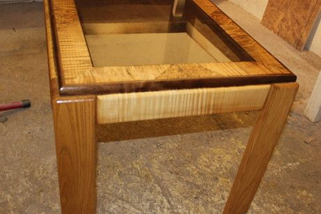 Custom Made End Table - Maple & Oak