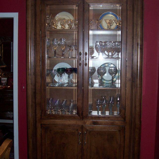 Double Glass Door Curio Cabinet Gallery Doors Design Modern