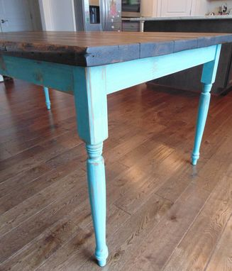 Custom Made Turned Leg Table