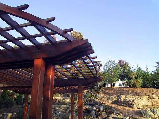 Custom Made Davis Family Pergola ~ Weaverville, Nc