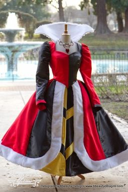 Custom Made Queen Of Hearts Villains Custom Costume Dress Gown