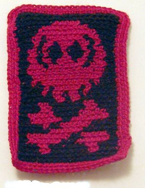 Custom Made Skull And Bones Patch In Black And Red