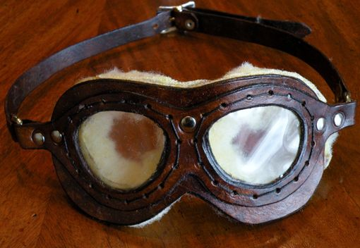 Custom Made Steampunk Themed Aviator's Goggles