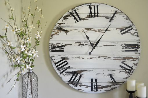 "Custom Made 36"" Large Wall Clock, Painted"