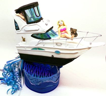 Custom Made Wedding Cake Toppers, Custom Wedding Cake Toppers, Nautical Wedding, Boating Wedding Cake Toppers