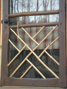 Custom Made Sahanilu Log, Branch, & Twig Doors