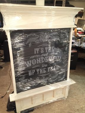 Custom Made Christmas Chalkboard