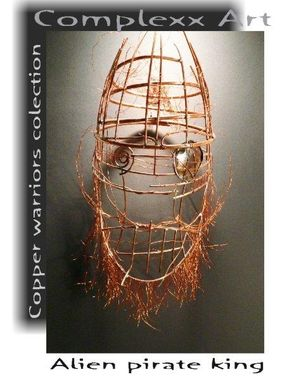 Custom Made Copper Mask Abstract Contemporary Unusual