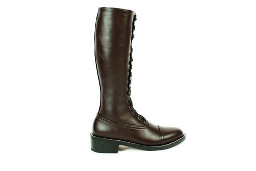 Custom Made Hesse Dark Brown Leather Tall Balmoral Boots