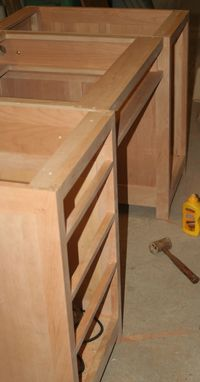 Custom Made Handmade Cherry Knee Hole Office Desk