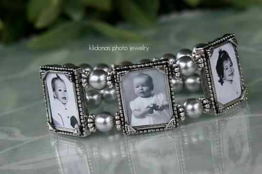Custom Made Photo Bracelet, Photo Charm Bracelet, Gift For Mom Or Grandma, Family Heirloom Jewelry