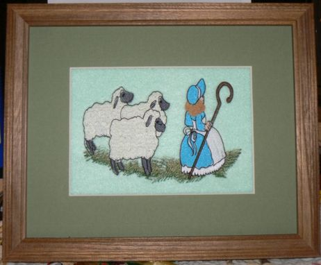 Custom Made Mother Goose Embroidered Pictures For Baby's Nursery