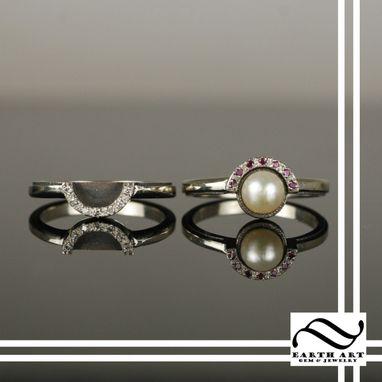 Custom Pokeball Engagement Ring Wedding Ring Set By Earth Art Gem