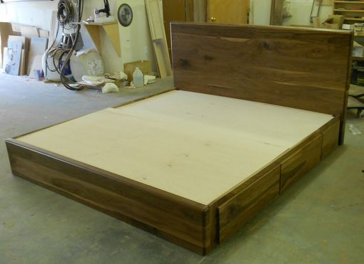 Custom Made Danish Modern Captains Bed (Sw-C 924) King
