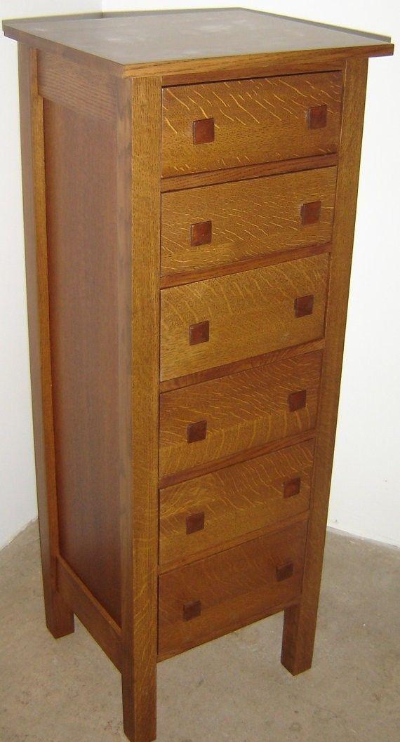 Handmade New Solid Quartersawn White Oak Wood Lingerie