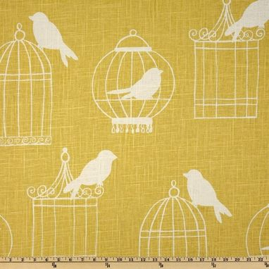 "Custom Made Custom Designer Draperies: Duralee Birdcage On Aquadisiac Aqua Blue Linen 90""L X 50""W"